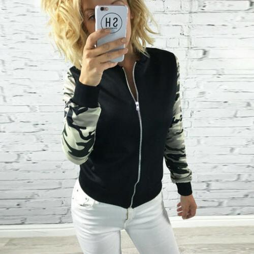 Women Up Jacket Biker Long Sleeve Outwear