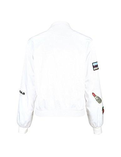 HaoDuoYi Womens Blend Bomber
