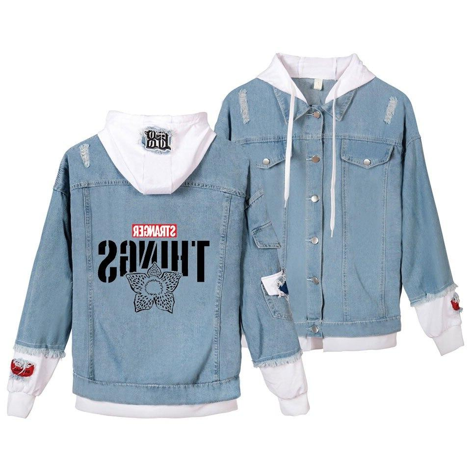 Womens and Fit <font><b>Bomber</b></font> Cotton <font><b>Jacket</b></font> Stranger Hoody Coats Hop Sweatshirt <font><b>XS</b></font>-4XL