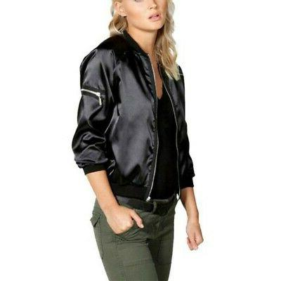 Womens Satin Jacket Baseball US