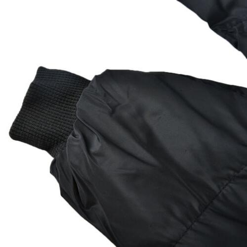 Men's Padded Hooded Coat Puffer Quilted Jacket Bomber XXXL