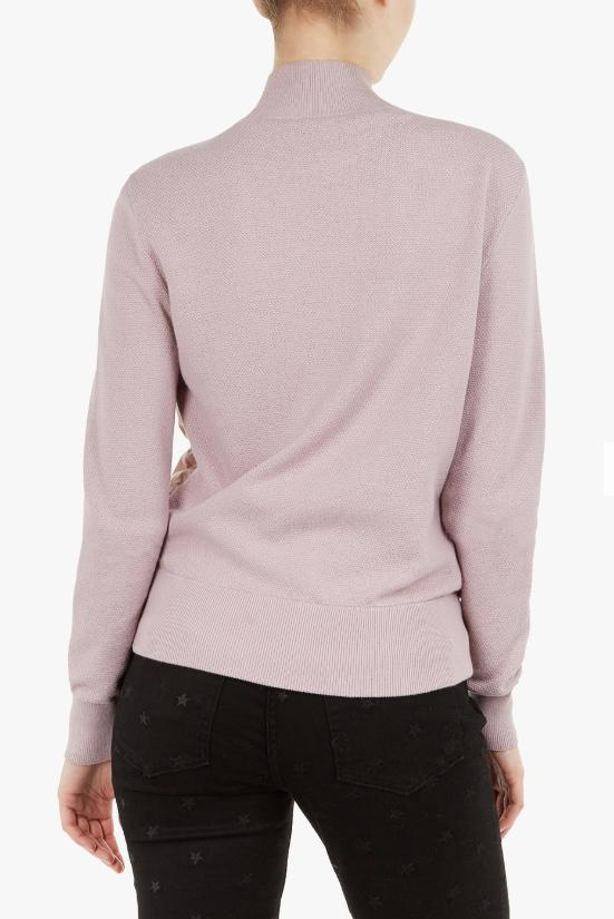 Ted Baker Xinta Quilted Top Lilac Size 4 US L NWT