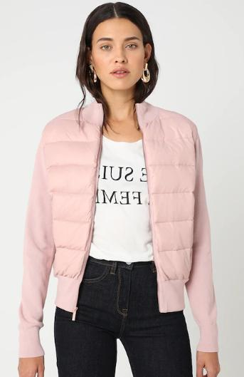 xinta bomber style quilted jacket top in