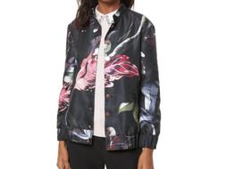 Ted Baker Lidia Garden Print Pleat Bomber Jacket, NWT, 2, or