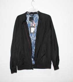 Ted Baker London Calgar Nylon Bomber Windbreaker Jacket Blac