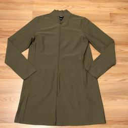Eileen Fisher Long Bomber Jacket Women's Size Small Rare D