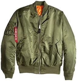 Alpha Industries Men's MA-1 Bomber Flight Jacket, Sage Green