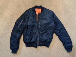 Alpha Industries MA-1 Flight Jacket/Bomber, Replica Blue, Me
