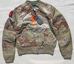ALPHA INDUSTRIES MA-1 Flight Jacket Bomber Reversible Chocol