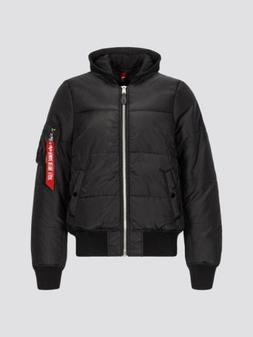 Alpha Industries MA-1 Natus Quilted Hooded Flight Bomber Jac