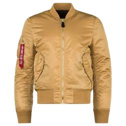 Alpha Industries MA-1 Slim Fit Flight Bomber Jacket Camel De