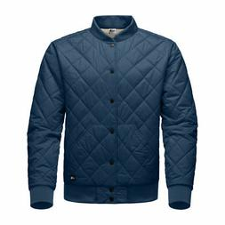 The North Face Men Blue Grey Reversible Quilted Bomber Jeste
