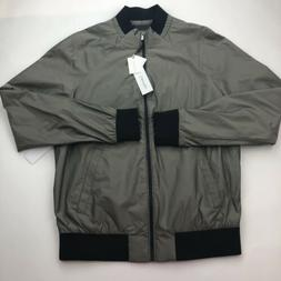 Calvin Klein Men Jacket X-Large Green Fight Bomber Full Zip