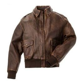 Men's Airforce A-2 Distressed COW HIDE Genuine Leather Fligh