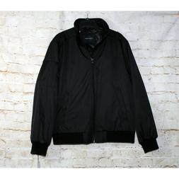 Calvin Klein Men's Bomber Jacket Black Side Pockets Zip Fron