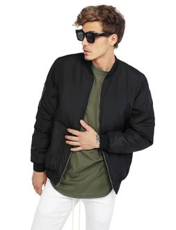 FashionOutfit Men's Classic Basic Solid Zip Up Sleeve Pocket