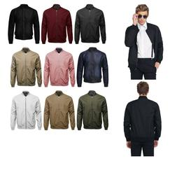 FashionOutfit Men's Classic Basic Style Zip Up Long Sleeves