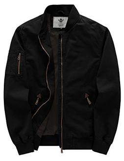 WenVen Men's Fall Cotton Casual Bomber Jacket