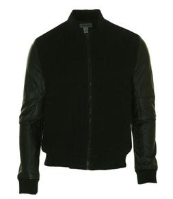 Kenneth Cole Reaction Men's Full Zip Mixed Media Bomber Jack