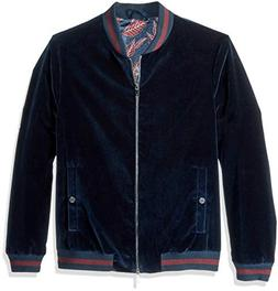 Ted Baker Men's Haydon Modern Slim Fit Velvet Bomber Jacket,