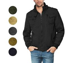 Maximos Men's Jacket Big & Tall Sherpa Lined Hooded Military