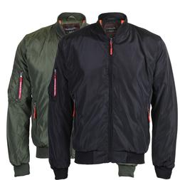 Men's Lightweight Multi Pocket Zip Up Reversible Flight Bomb