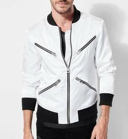 men s long sleeve satin dragon bomber