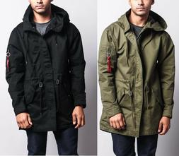 Victorious Men's MA-1 Bomber Style Military Anorak Safari Ja