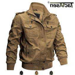 Tactical Men's Military Cargo Jacket Cotton Coat Army Winter
