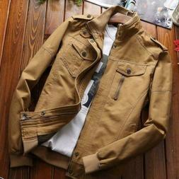 Men's Military cotton jackets casual collar bomber jacket co