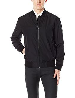 Kenneth Cole REACTION Men's Perfect Bomber, Black, Large