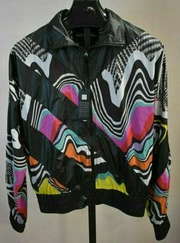 JUST CAVALLI Men's Psychedelic Graphic Bomber Jacket Multico