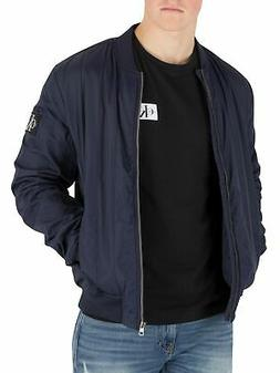 Calvin Klein Jeans Men's Quilted Bomber Jacket, Blue