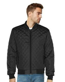 9 Crowns Men's Quilted Bomber Jacket