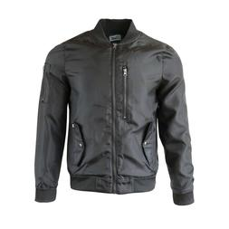 Beautiful Giant Men's Quilted Bomber Jacket Zip up Flight Ou