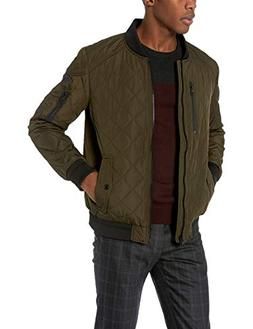 Calvin Klein Men's Calvin Klein Quilted Bomber With Patches