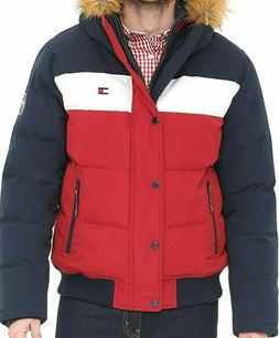 Tommy Hilfiger Men's Quilted Cloth Bomber Jacket with Remova