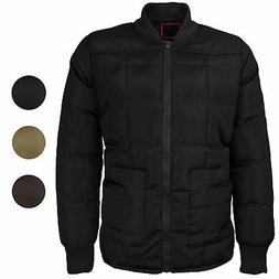 vkwear Men's Quilted Padded Insulated Heavyweight Puffer Bom