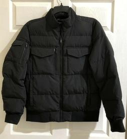 DKNY Men's Quilted Performance Bomber Jacket Front Pockets S