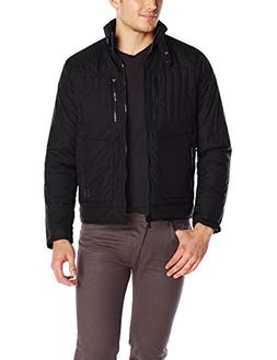 Kenneth Cole REACTION Men's Soft Quilted Bomber Jacket, Blac