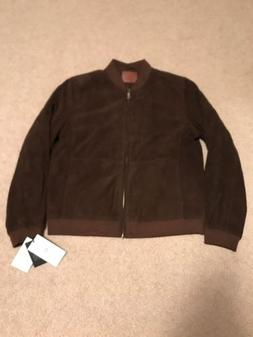 UGG Men's Suede Bomber Jacket Dark Chestnut 1019555 Large NW