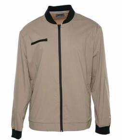 Kenneth Cole Reaction Men's Tech Bomber Full Zip Jacket Tan