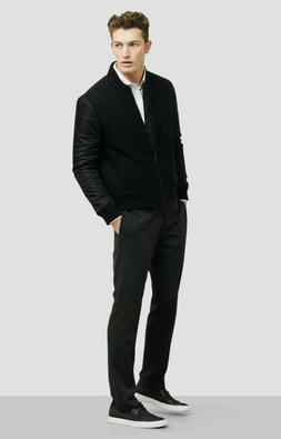 Kenneth Cole Reaction Men's Wool Blend Quilted Bomber Jacket