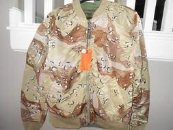 Men's XL Alpha Industries reversible midweight Camouflage Bo