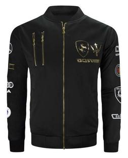 Men's Bomber Jacket Racing Foil Print on Front and Grand Pri