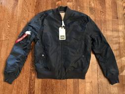 mens bomber jacket industries xl replica blue