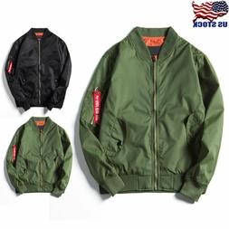 Mens Bomber Jacket Winter Flight Military Air Force Waterpro