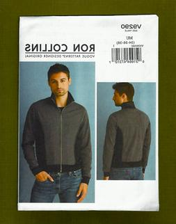 Mens Bomber Style Jacket Sewing Pattern~Ron Collins  Vogue 9