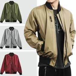 Mens BOMBER Windbreaker JACKET Tech Lightweight Waterproof H