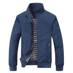 Mens Casual <font><b>Jacket</b></font> Outdoor Slim <font><b